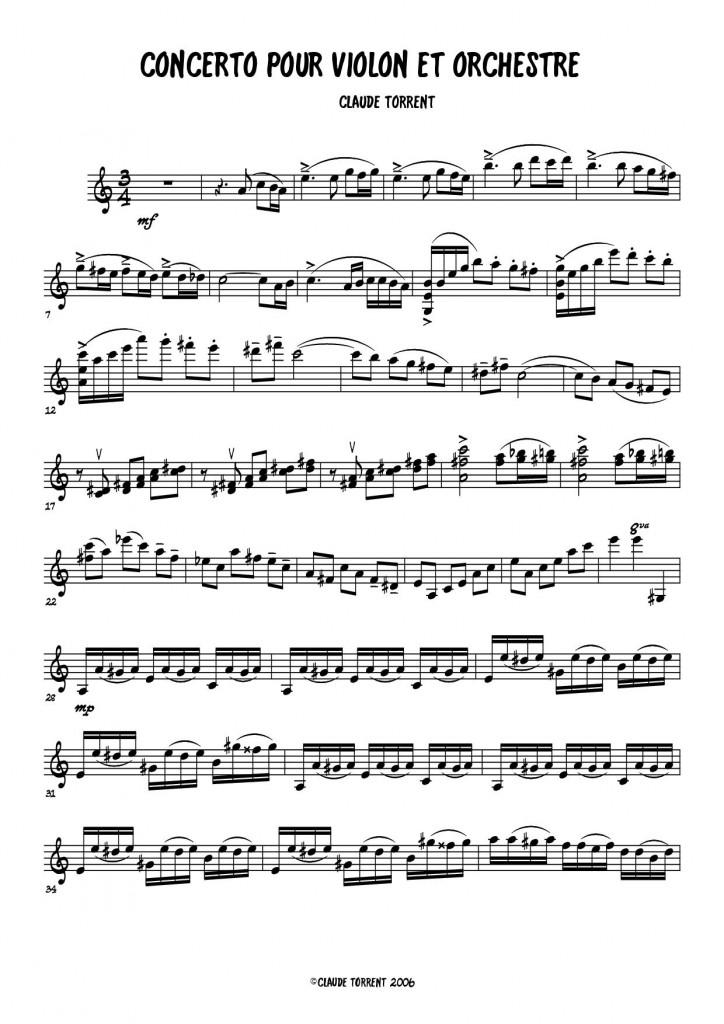 CONCERTO 2 B - Violin